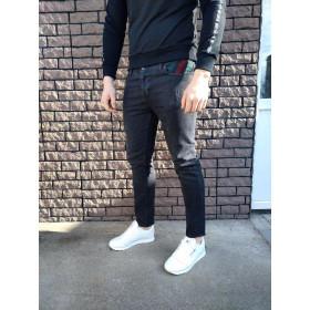 Джинсы - в стиле Gucci (Чёрные)