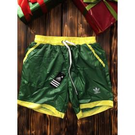 Мужские шорты - В стиле Reebok (серые, текстиль)