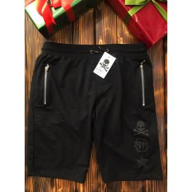 Мужские шорты - В стиле Philipp Plein (Чёрные,Шр-17)